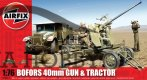 Bofors 40mm Gun and Tractor (WW II) Airfix plastbyggsats