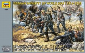 German Infantry of World War 1 (WW I)